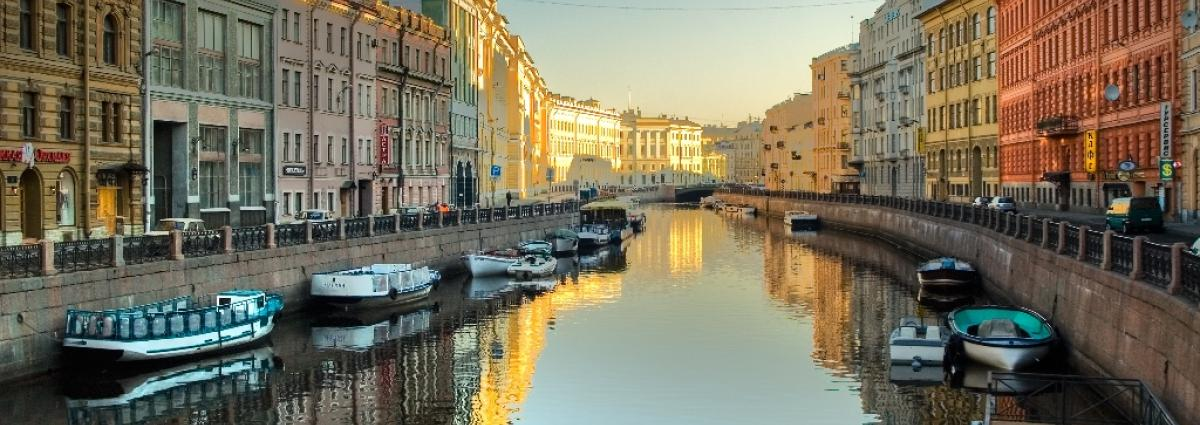 Beautifull view on St Petersburg canal.